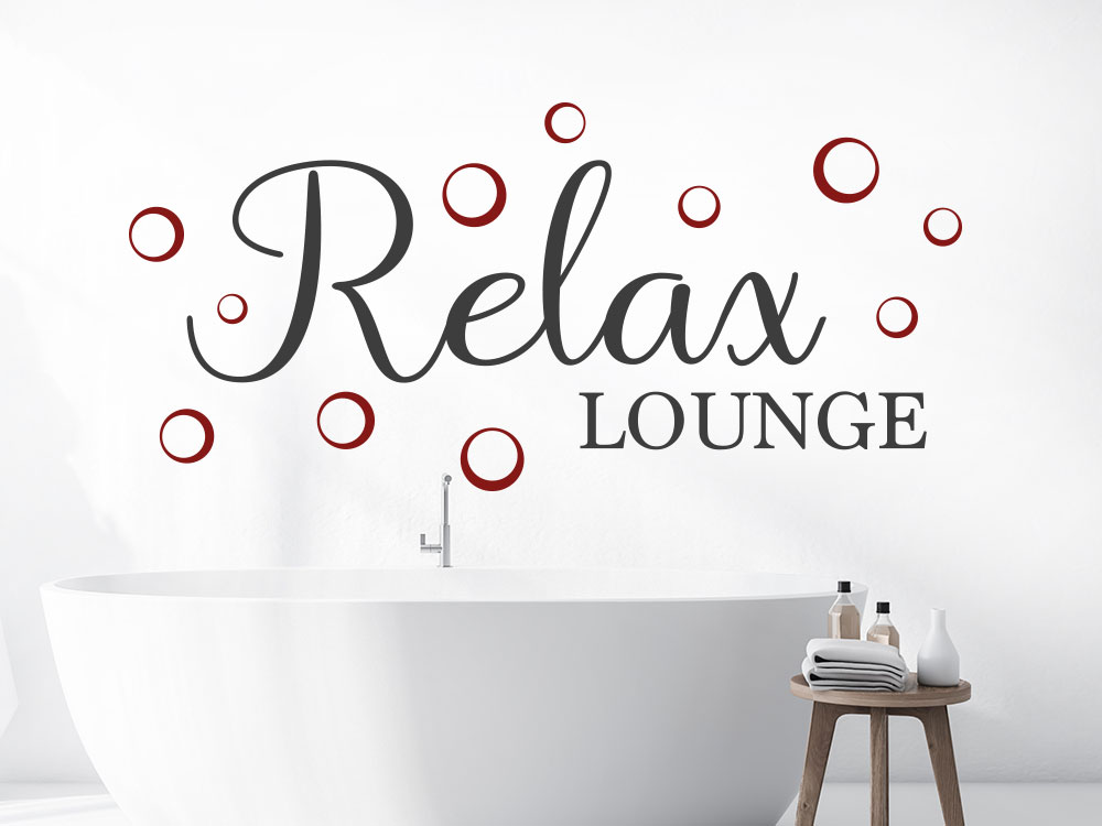 Relax Lounge Wandtattoo mit Blubberblasen über Badewanne