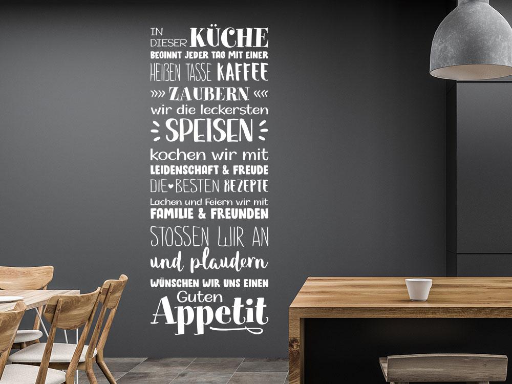 In dieser Küche Wandtattoo in Weiß