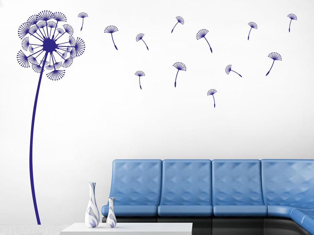 Wandtattoo Pusteblume mit Schirmchen