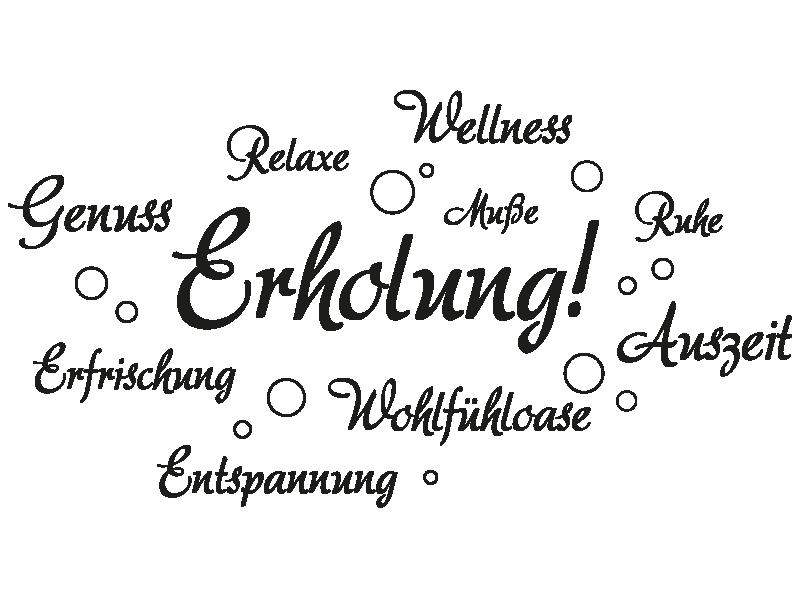 Wellness sprüche gutschein  Wandtattoo Erholung von KLEBEHELD®
