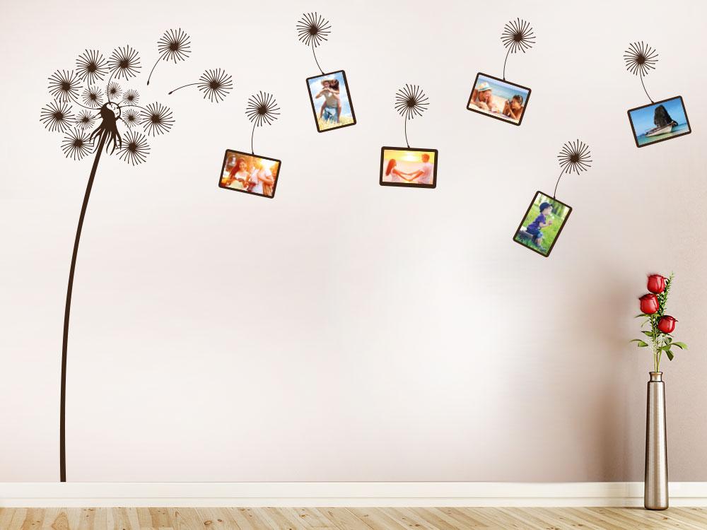 Wandtattoo Pusteblume für Fotos auf großer Wand
