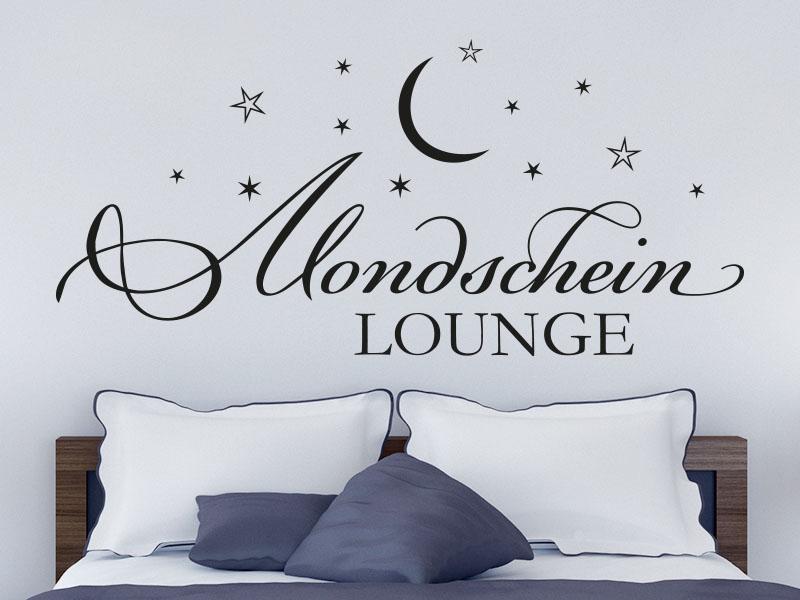 Wandtattoo Mondschein Lounge - Schlafzimmer