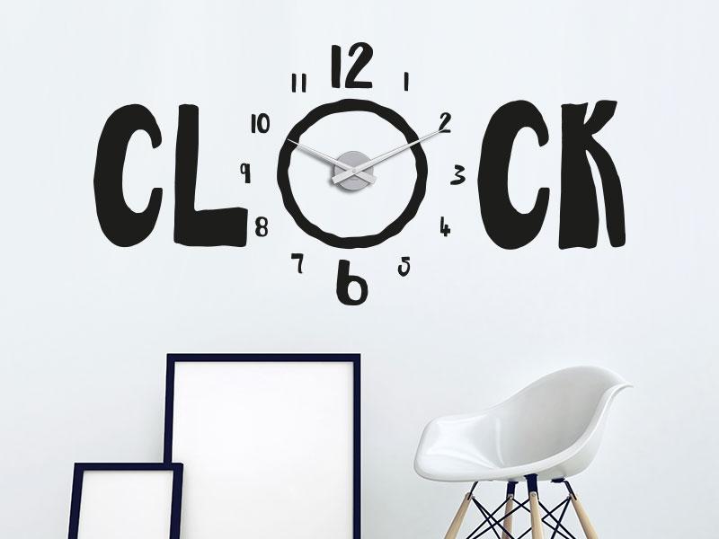Wandtattoo Uhr Clock