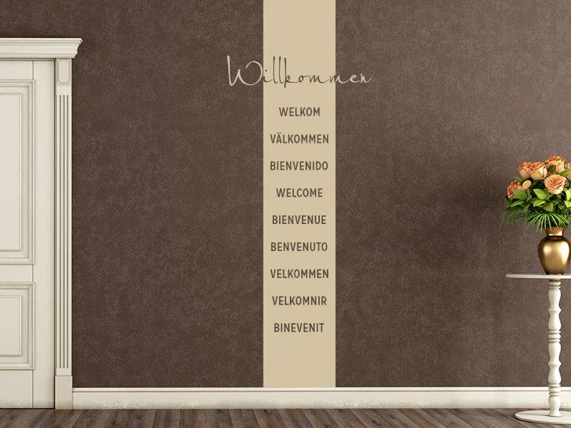 Wandtattoo wortbanner wand banner wandtattoos mit worten for Wanddesign flur