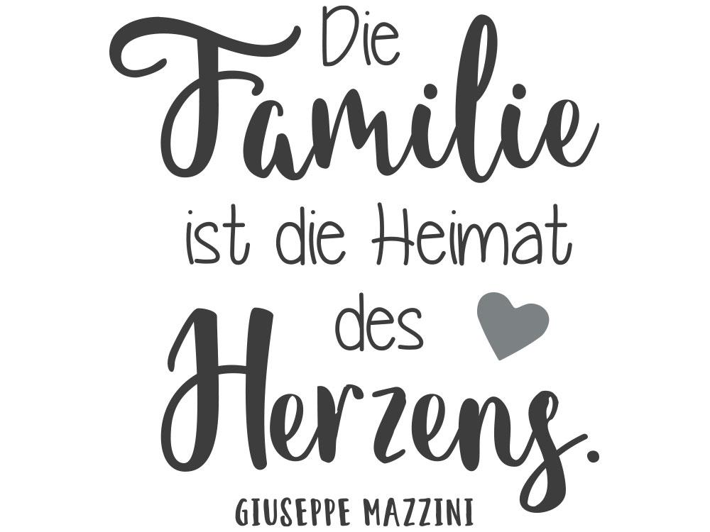 Wandtattoo Familie ist die Heimat - Gesamtansicht