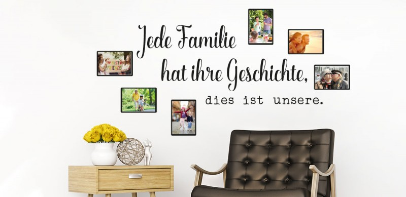 wandtattoo fotorahmen bilderrahmen f r fotos klebeheld de. Black Bedroom Furniture Sets. Home Design Ideas