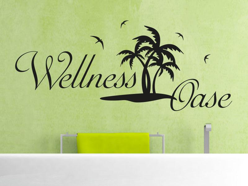 Wandtattoo Wellness Oase mit Palmen