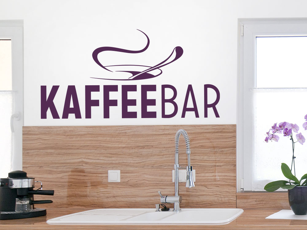 Wandtattoo Kaffee Bar