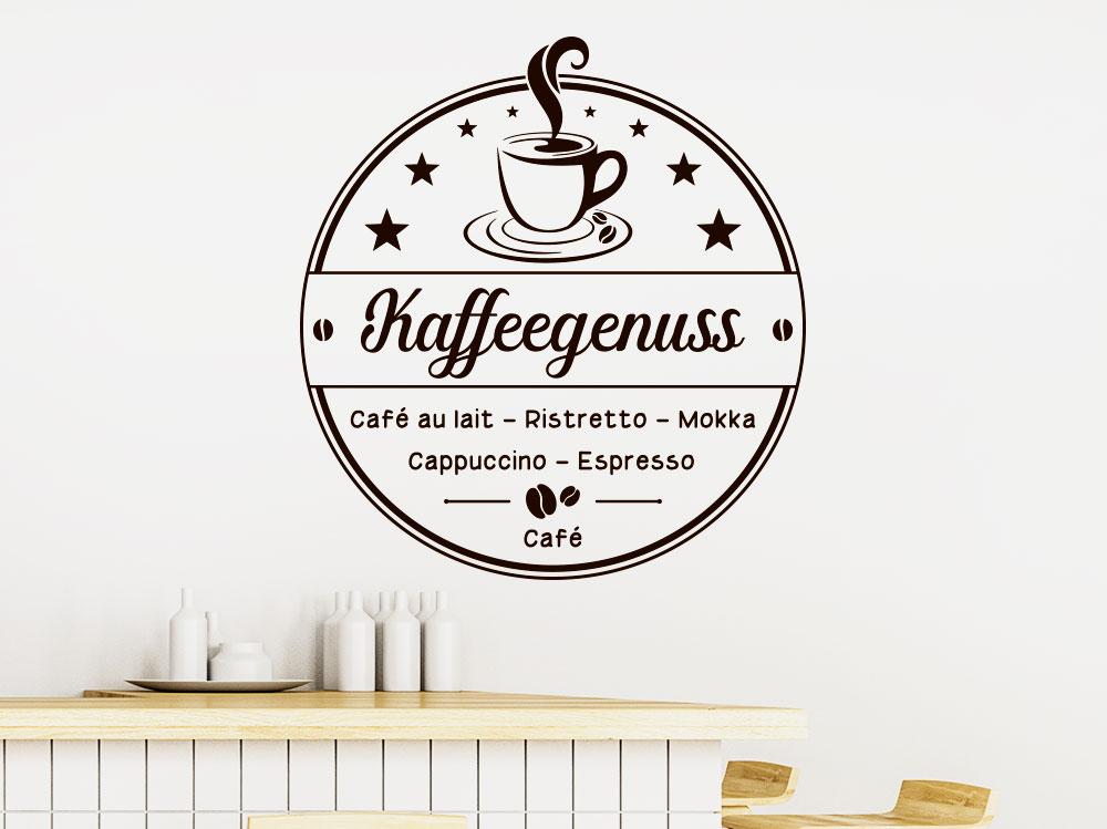 Wandtattoo Zeit für Kaffeegenuss