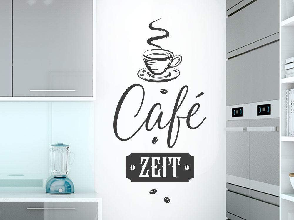 Wandtattoo Café Zeit