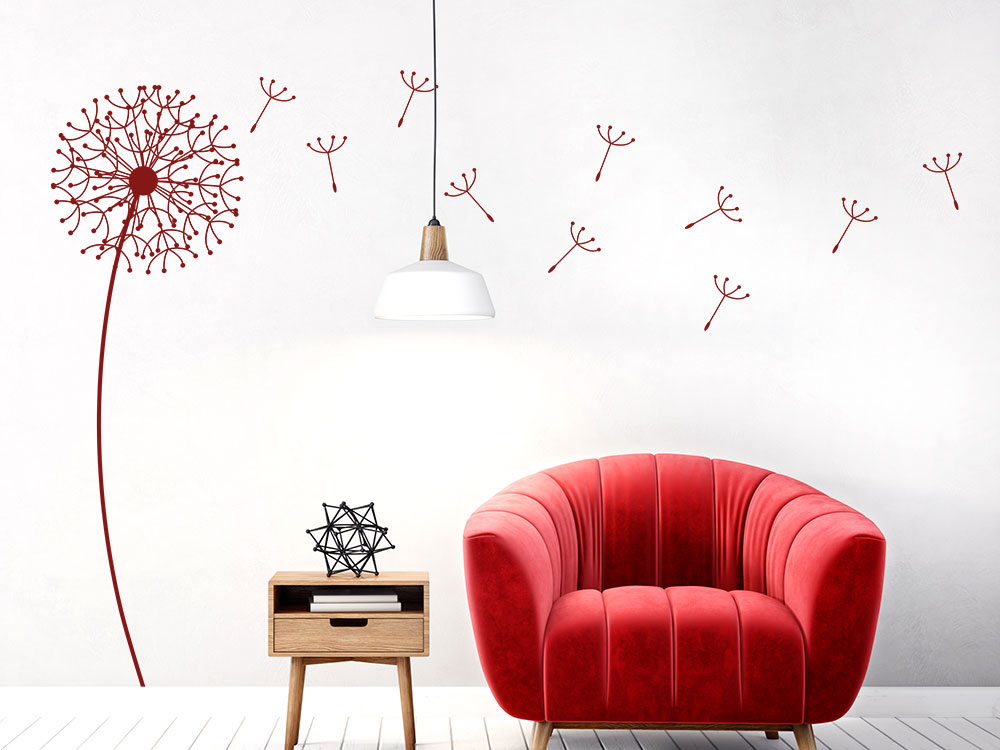 Design Wandtattoo Pusteblume