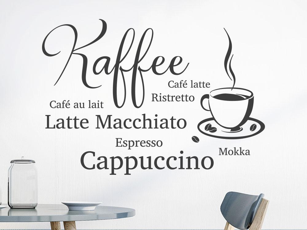 Wandtattoo Kaffee Design