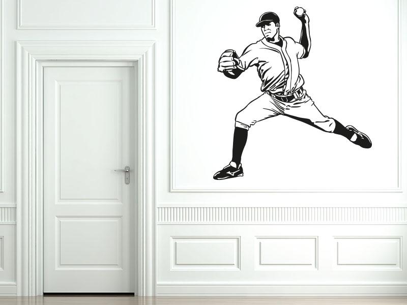 Wandtattoo Baseballspieler - Pitcher