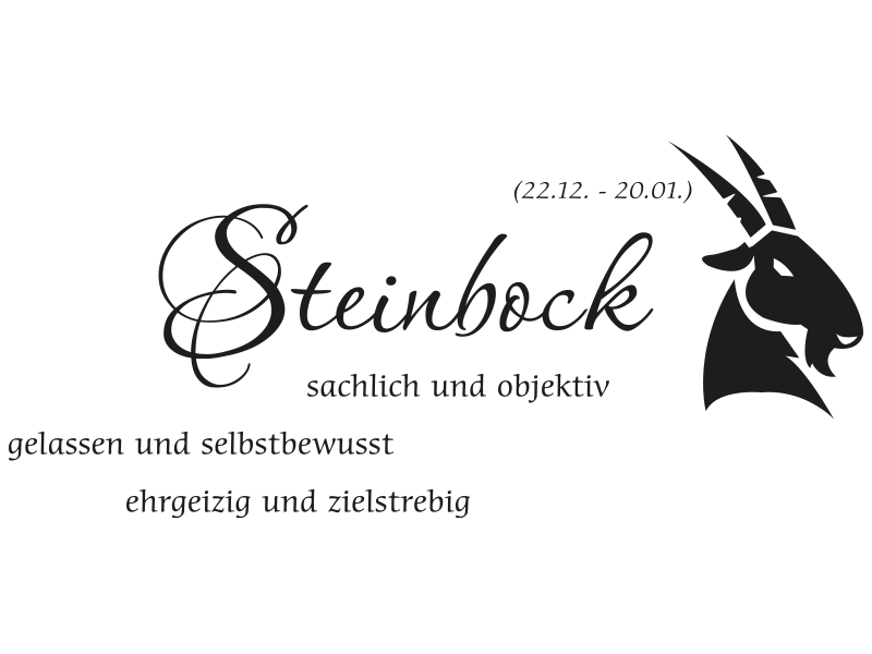 sternzeichen steinbock wandtattoo sternzeichen wandtattoo steinbock. Black Bedroom Furniture Sets. Home Design Ideas