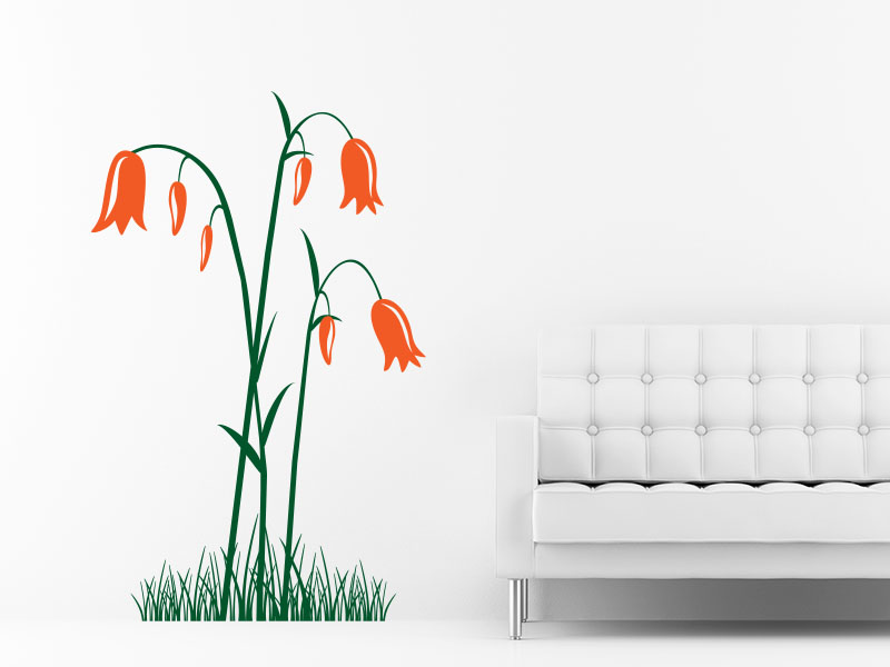wandtattoo glockenblume im gras als wandtattoo glocken blume. Black Bedroom Furniture Sets. Home Design Ideas