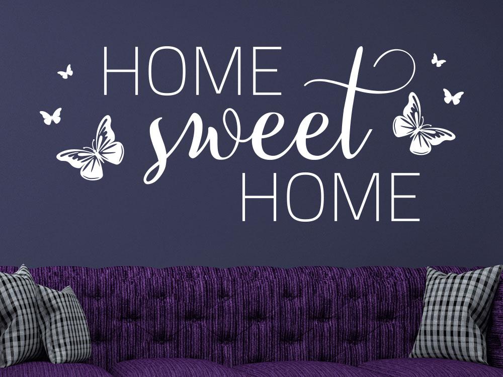 Wandtattoo Home sweet Home dekorativ