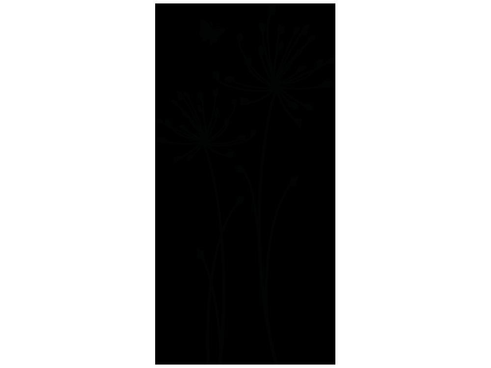 wandtattoo wiesenblume mit schmetterling von klebeheldde