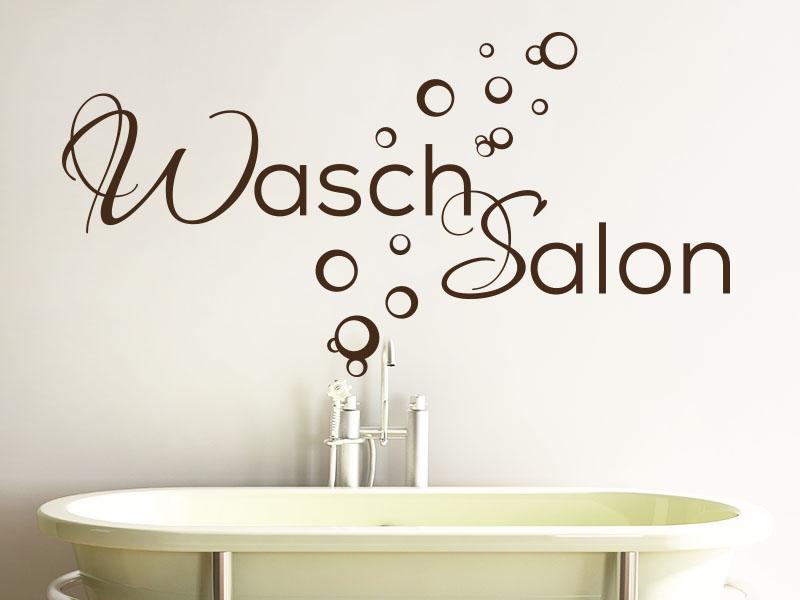 Wandtattoo Wasch Salon