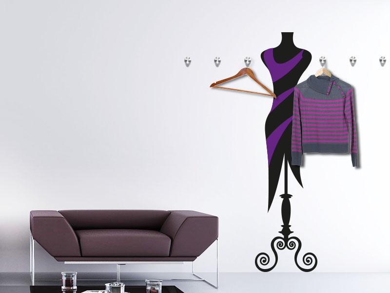 Mannequin als Wandtattoo Garderobe