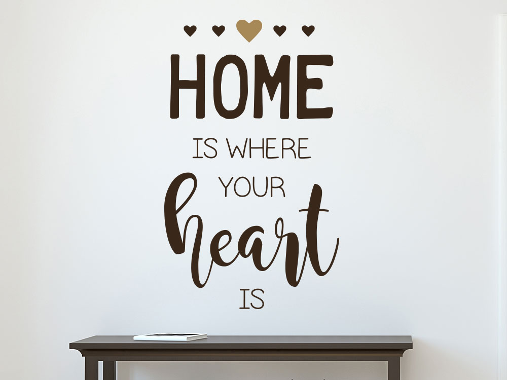 Home is where your heart is Wandtattoo