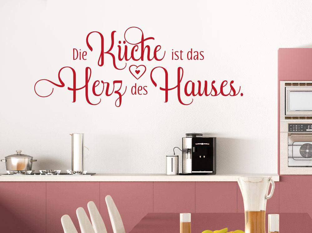 Wandtattoo Spruch Die Küche ist das Herz - KLEBEHELD®.DE