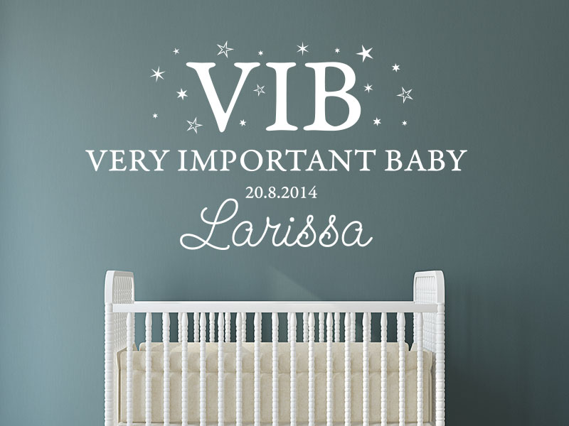 Wandtattoo VIB - Very important Baby