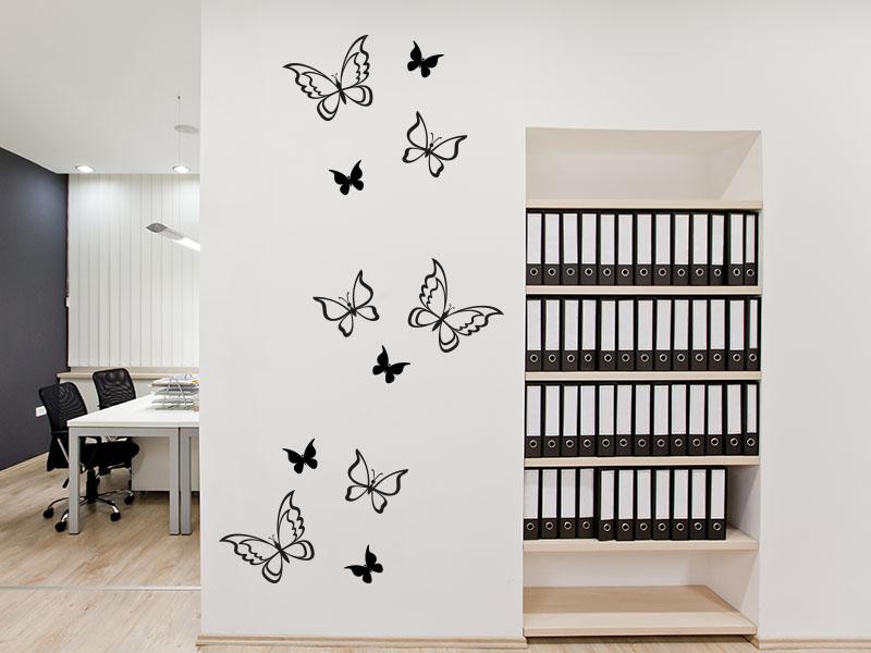 Wandtattoo Wundervolle Schmetterlinge Set
