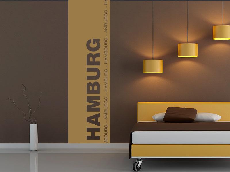Wandtattoo Banner der Stadt Hamburg