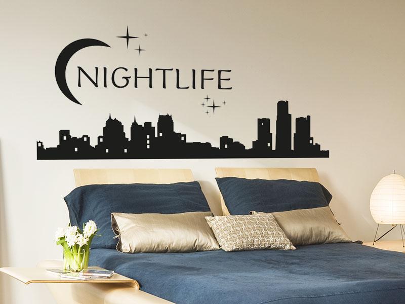 Wandtattoo Nightlife