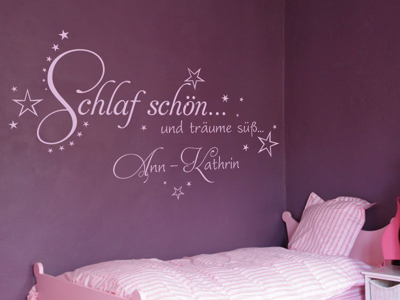 wandtattoos kinder wandtattoo schlaf sch n und tr ume s. Black Bedroom Furniture Sets. Home Design Ideas