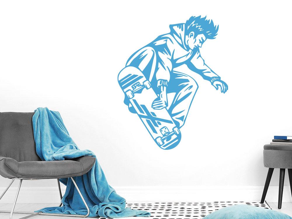 Wandtattoo Skateboarder beim Sprung