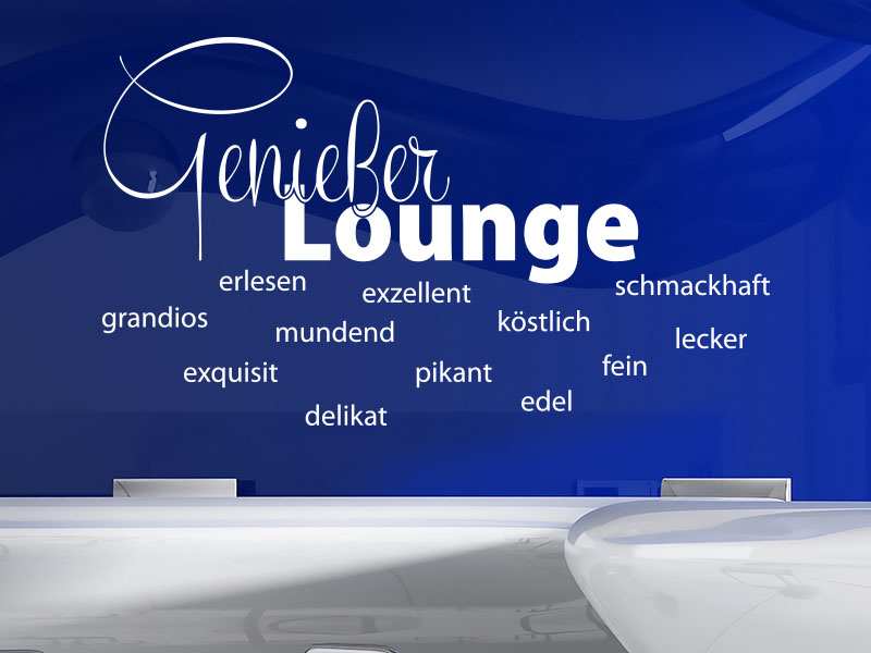 Wandtattoo Genießer Lounge Wortwolke