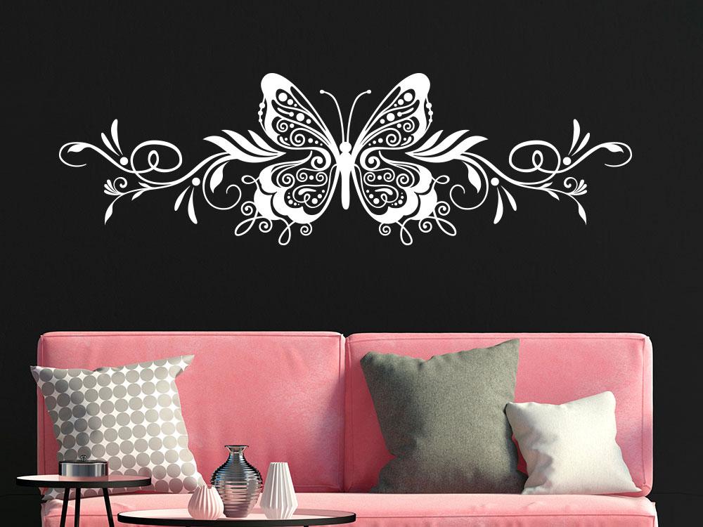 Wandtattoo Ornament Schmetterling