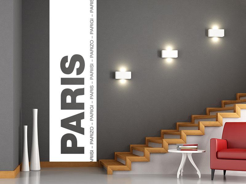 Wandtattoo Banner der Stadt Paris