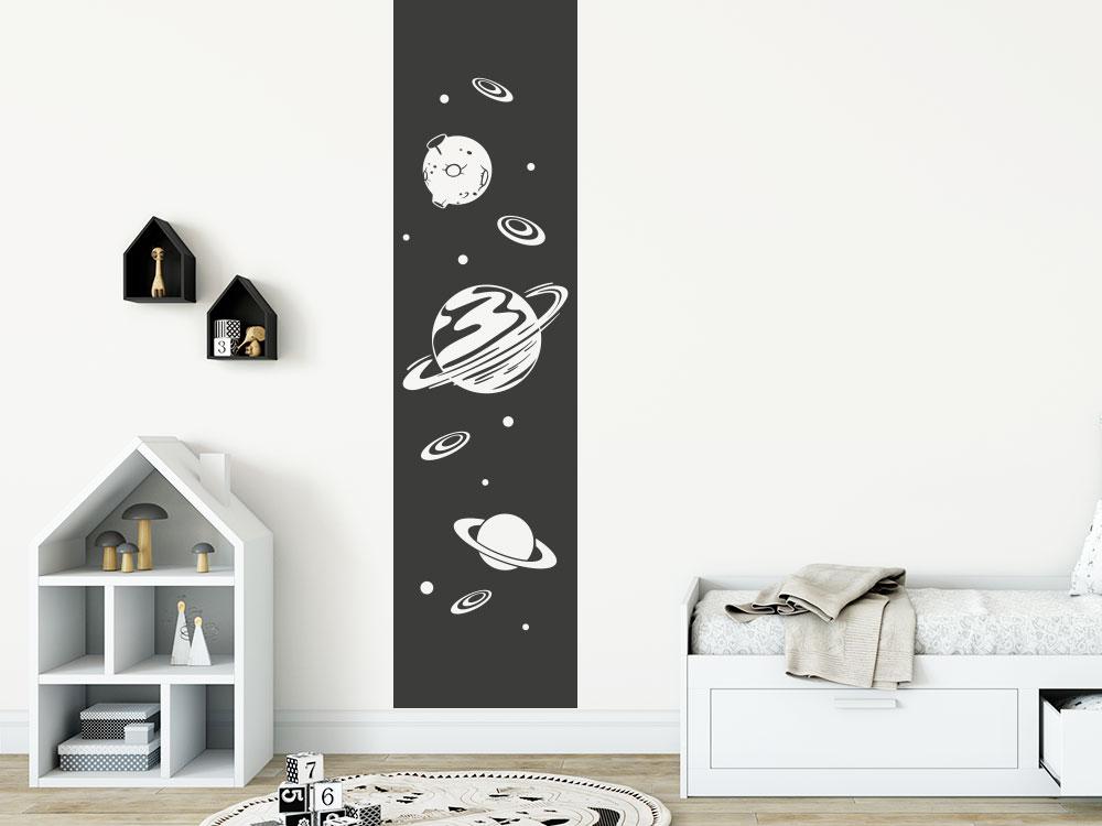 Wandtattoo Banner Universum mit Planten und Sternen