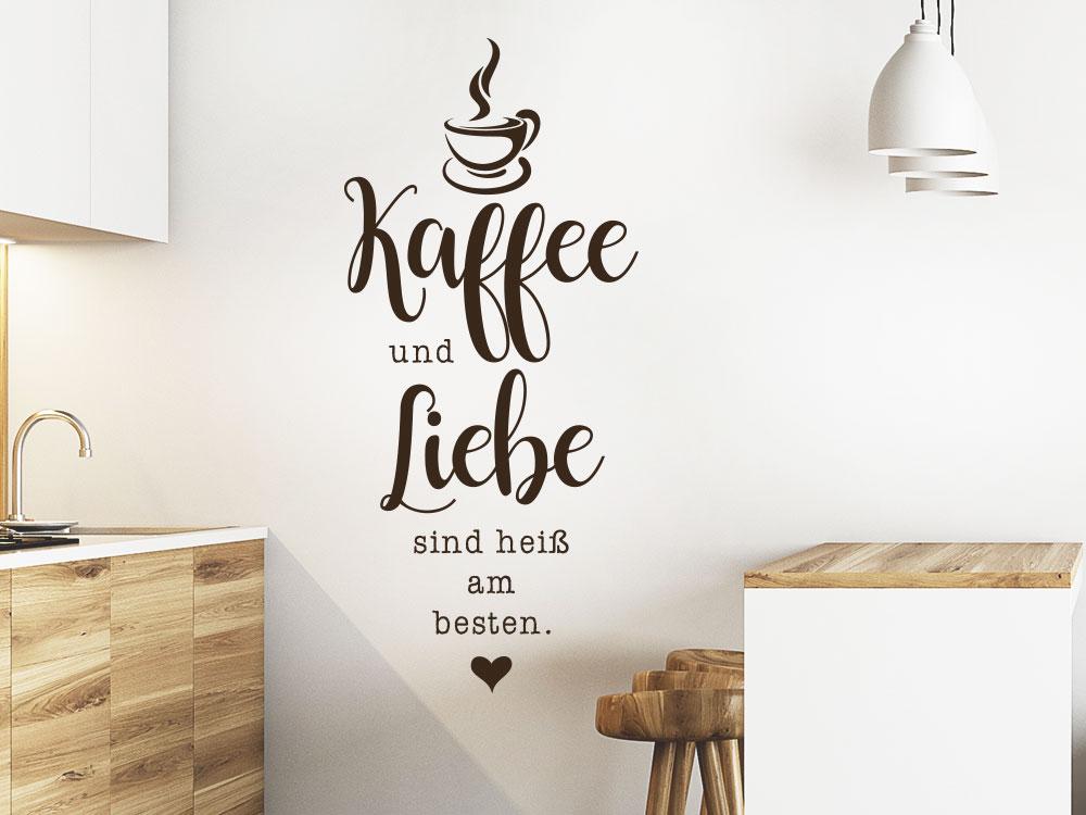 Wandtattoo Kaffee und Liebe