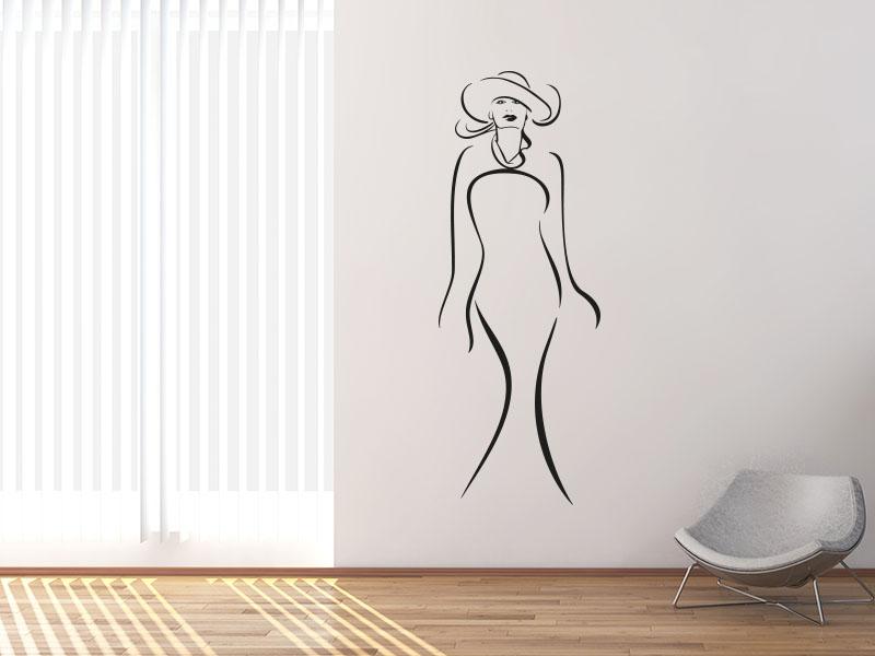 Wandtattoo Stilvolle Frau
