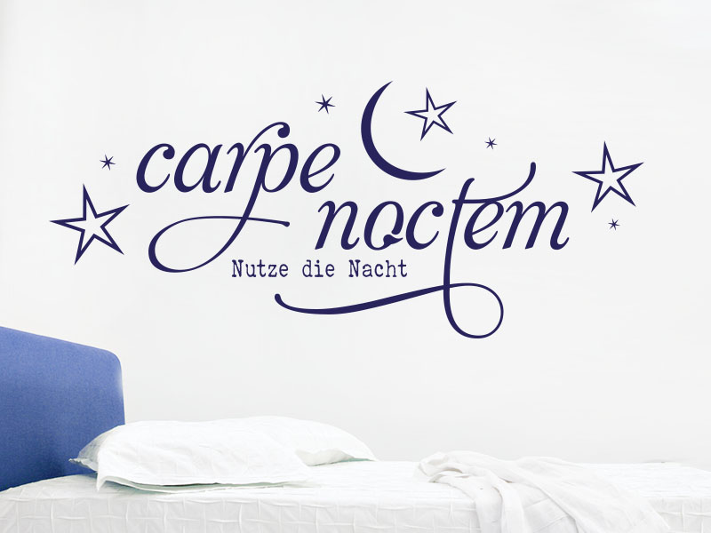 wandtattoo carpe noctem no 1 von klebeheld. Black Bedroom Furniture Sets. Home Design Ideas