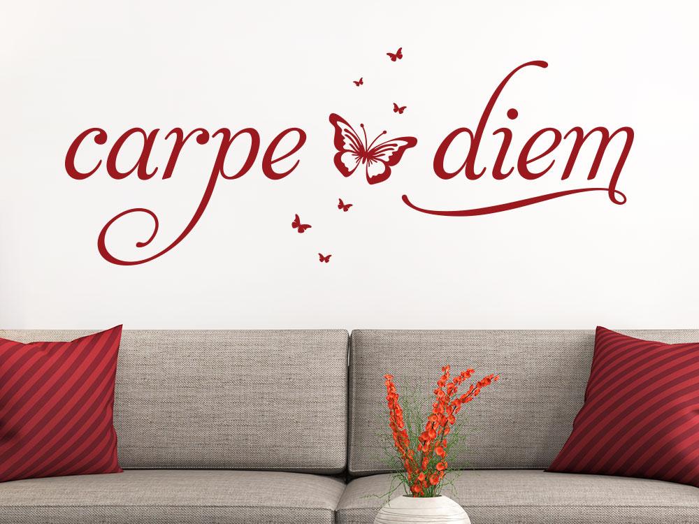 Wandtattoo carpe diem... als dekorativer Spruch im Wohnzimmer