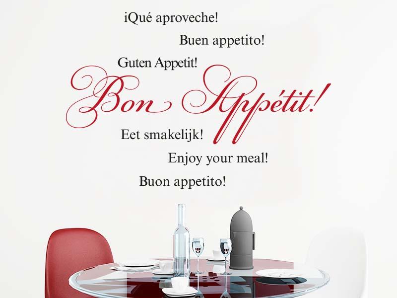 Wandtattoo Bon Appetit in rot