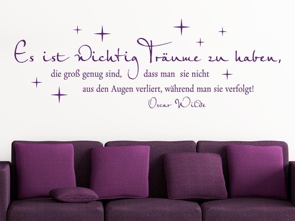 Wandtattoo Es ist wichtig Träume zu haben… im Wohnzimmer