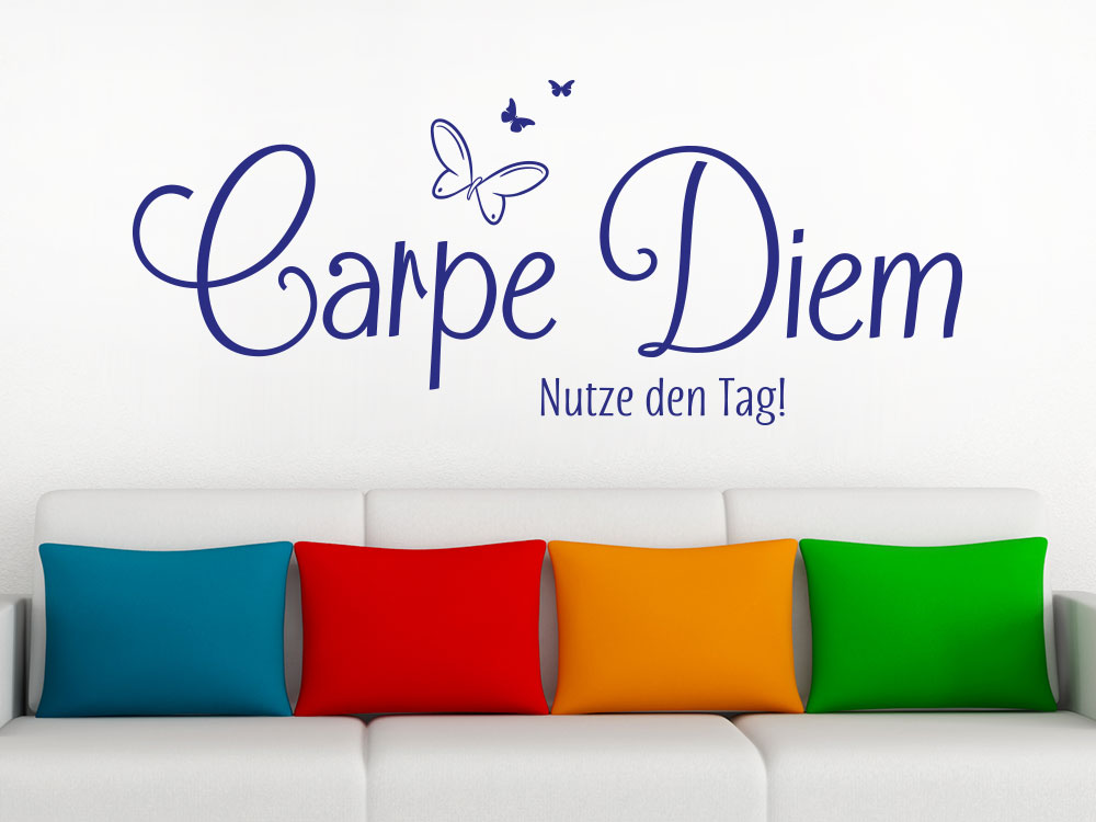 wandtattoo carpe diem no 4 spruch klebeheld de. Black Bedroom Furniture Sets. Home Design Ideas