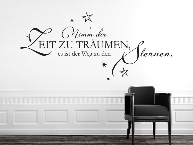 traumhafte wandtattoo spr che traum spr che wandtattoos. Black Bedroom Furniture Sets. Home Design Ideas