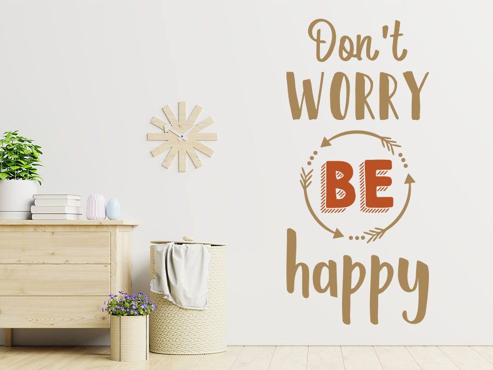 Wandtattoo Be happy