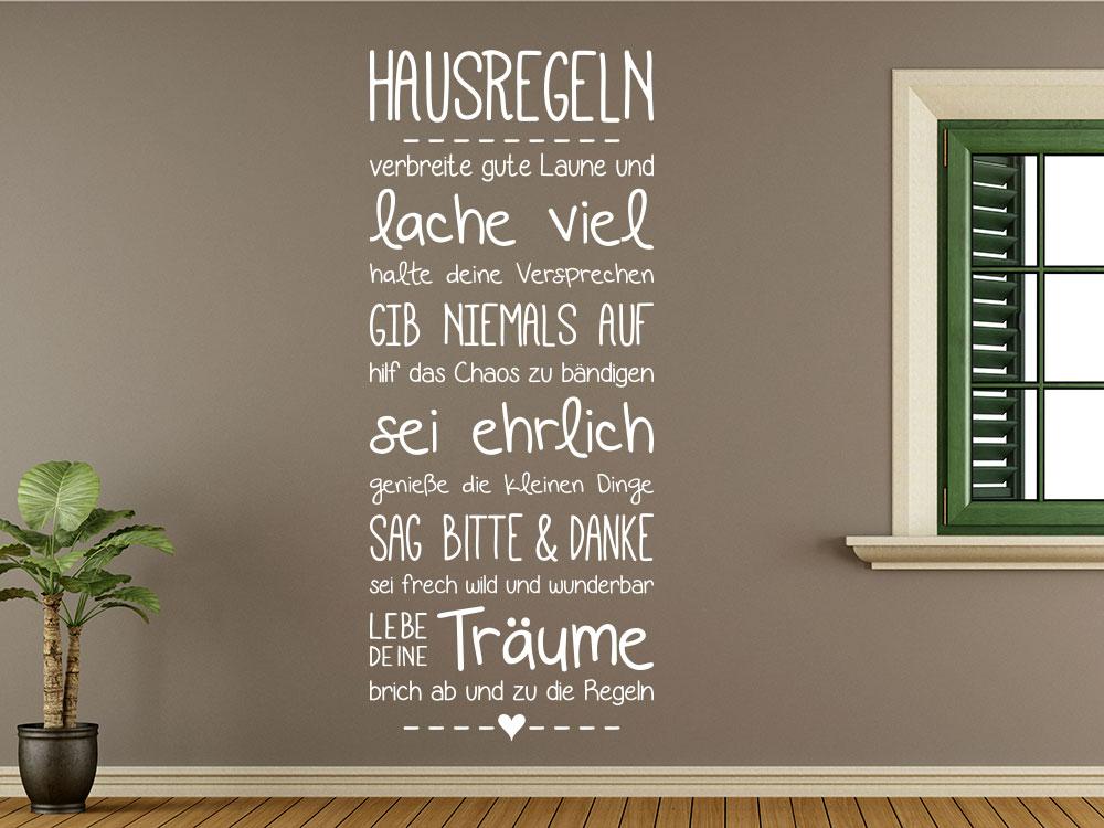 Wandtattoo Hausregeln Banner