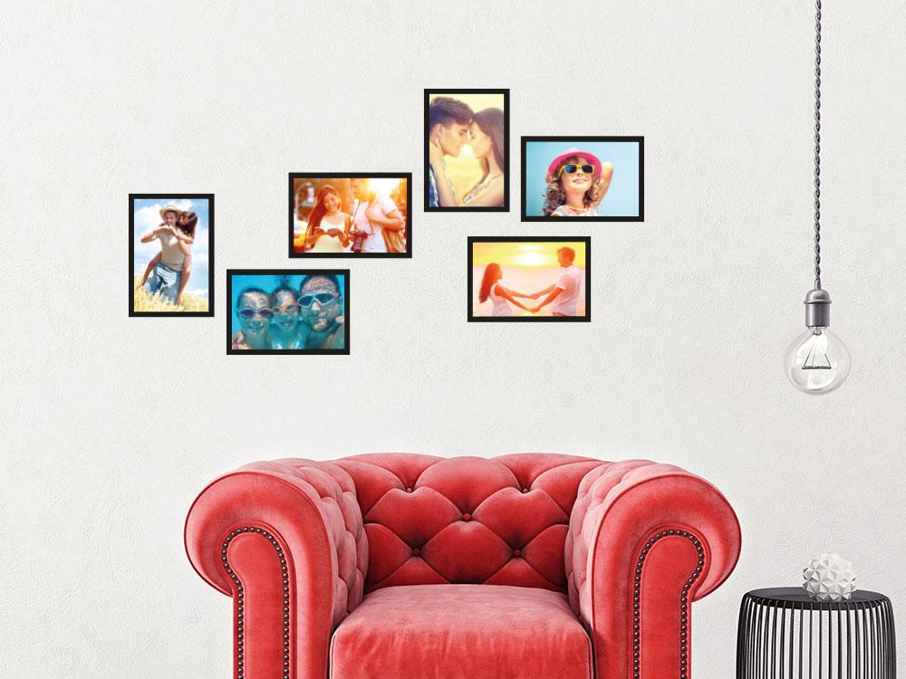 Wandtattoo Zusatzrahmen Set Fotorahmen Familienuhr