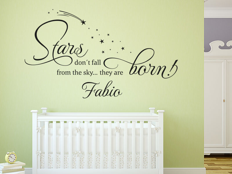 Wandtattoo Stars are born… fürs babyzimmer
