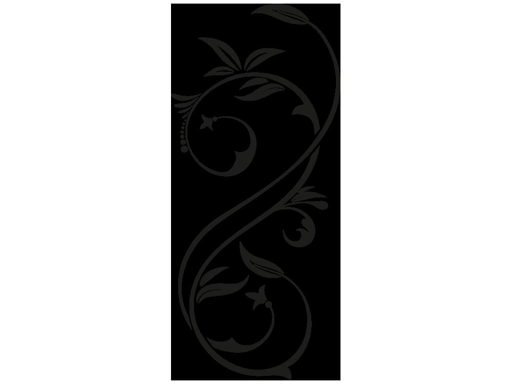 Wandtattoo Ornament Eleganz - Motivansicht des Wandtattoos