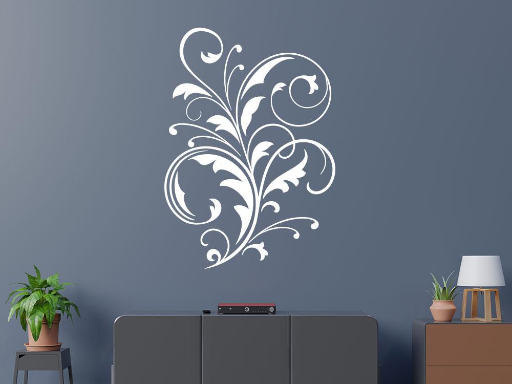 Wandtattoo Ornament Dekor auf dunkler Wand