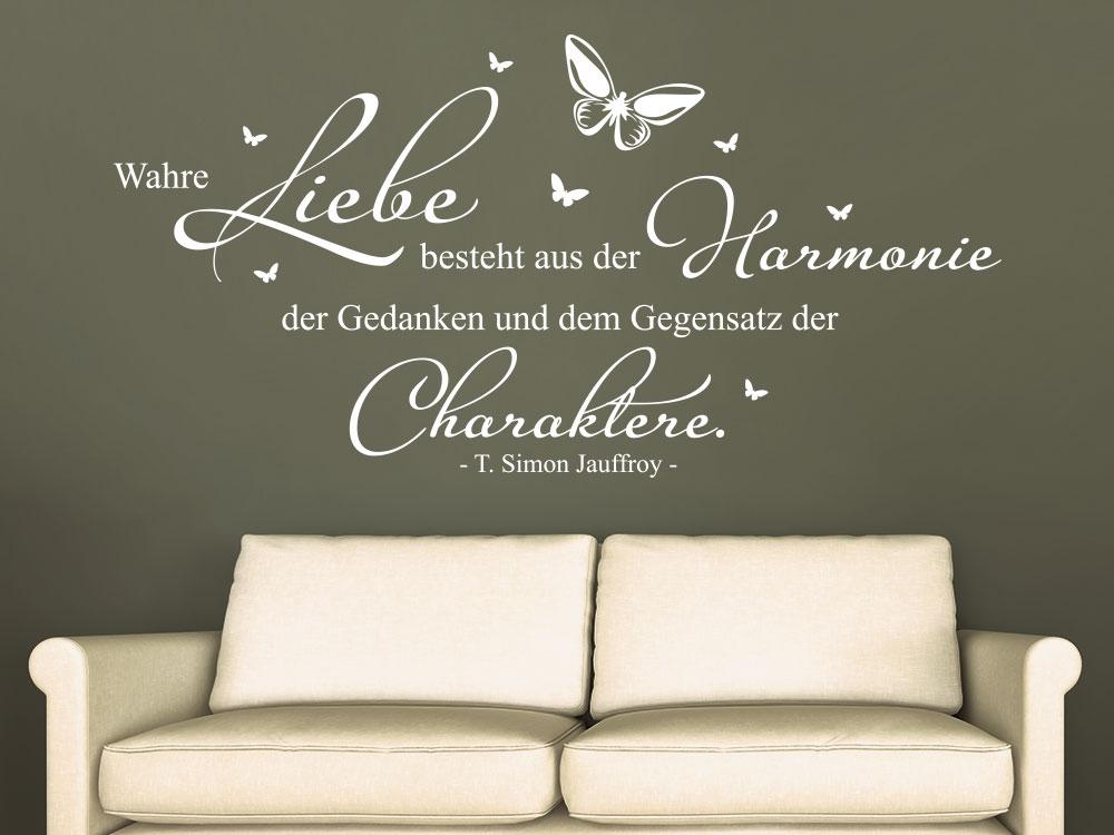 Wandtattoo Wahre Liebe besteht aus der Harmonie der Gedanken…